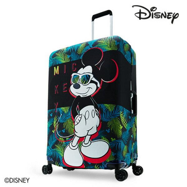 【加賀皮件】DESENO DISNEY 迪士尼 米奇MICKEY 彈性箱套 行李箱套 行李保護套 M號 熱帶叢林 B1129-0005