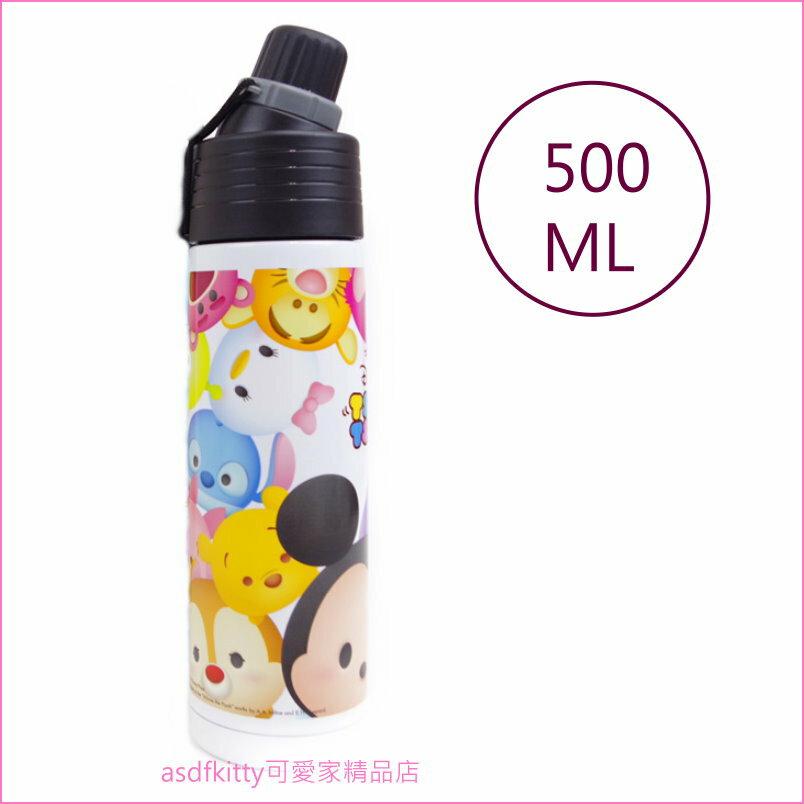 asdfkitty可愛家☆迪士尼家族Q版不鏽鋼保溫保冷直飲水壺-500ML-日本正版商品