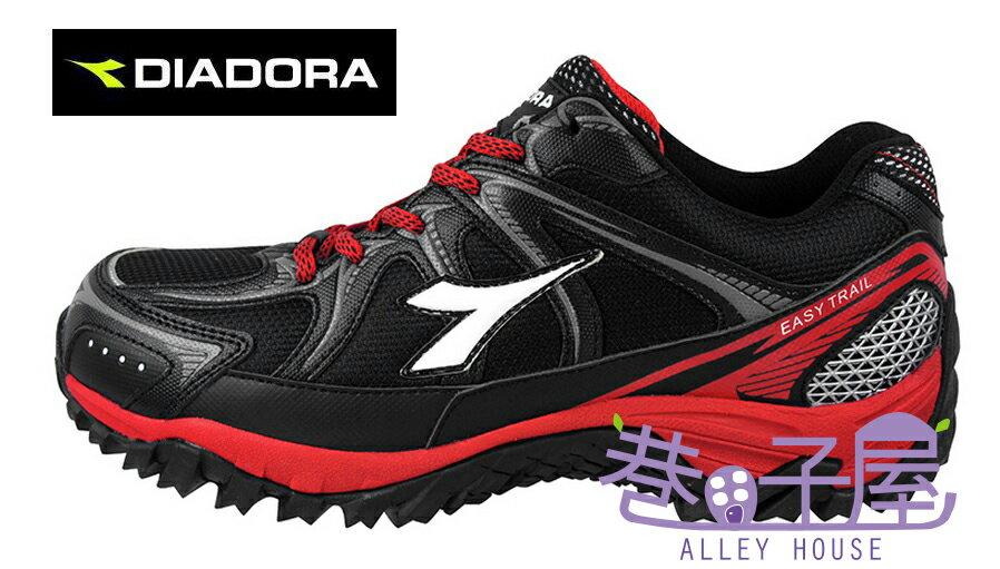 【巷子屋】義大利國寶鞋-DIADORA迪亞多納 男款抗水越野運動跑鞋 [9710] 黑紅 超值價$875