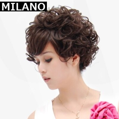 ~假髮整頂假髮短假髮~ 成熟中老年捲髮女 2色73em25~ ~~米蘭 ~