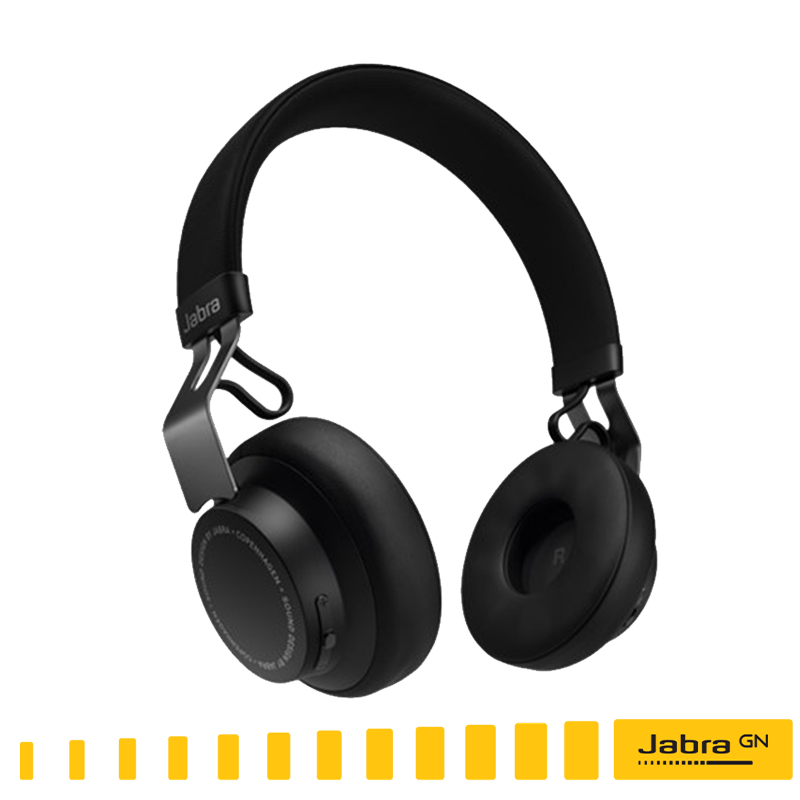 【Jabra】MOVE Style Edition 頭戴式音樂藍牙耳機 (沐舞風尚版)--耀石黑/ 無線藍芽耳機●出色的無線音效/通話時間:長達8小時緊密結合 I Phone /免運