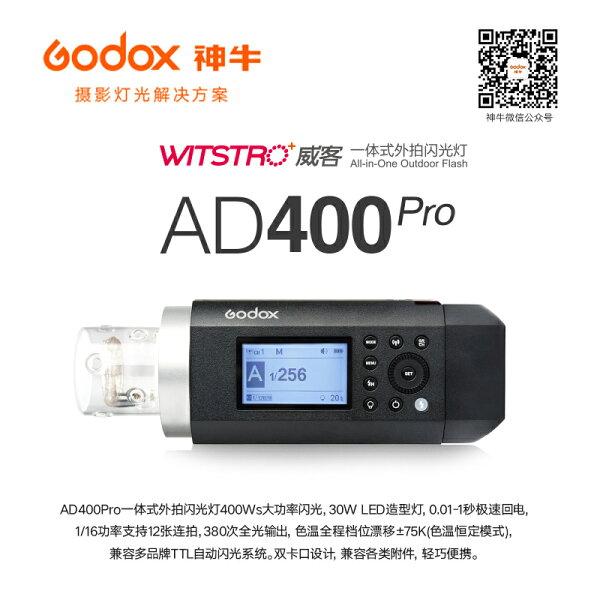 ◎相機專家◎Godox神牛AD400Pro400W外拍燈棚拍TTL高速同步可用X1XPRO公司貨公司貨
