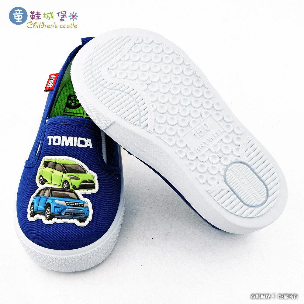小車車室內外休閒鞋 TOMICA多美車 TM7727 藍【童鞋城堡旗艦店】