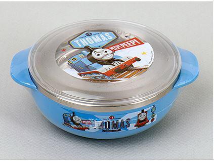 X射線【C702047】湯瑪士不鏽鋼碗附蓋-小(藍.雙耳),餐具組/環保/開學/便當盒