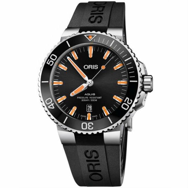 ORIS 豪利時 Oris Aquis 時間之海0173377304159-0742464EB潛水機械腕錶/43.5mm