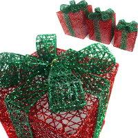 幫家裡聖誕佈置裝飾推薦聖誕裝飾及吊飾到聖誕紅綠系金蔥禮物盒擺飾(一組含大中小三入)(可置於聖誕樹下或溫暖角落)YS-XDS016016就在摩達客推薦幫家裡聖誕佈置裝飾