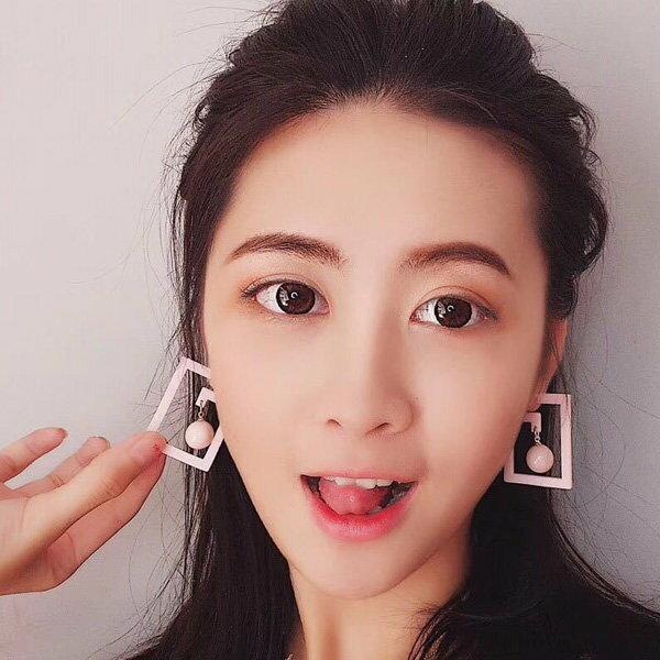 耳環彩色個性迷宮珠珠掛墜誇張耳釘耳環【DD1804152】BOBI0524