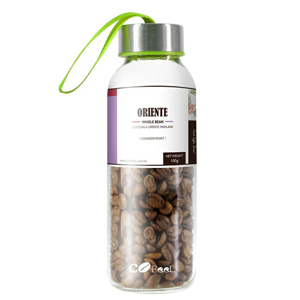 CoFeel 凱飛鮮烘豆瓜地馬拉新東方酒香魅影淺烘焙咖啡豆玻璃精裝瓶(MO0071S)