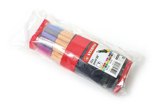 STABILO鵝牌 point 88 款式細字彩色簽字筆^(0.4mm^)25色筆袋裝版8