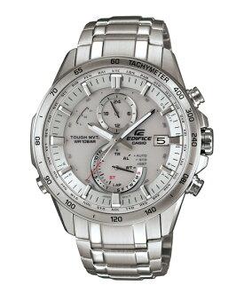 CASIO EDIFICE EQW-A1400D-7A紳士典範太陽能電波腕錶/白面45mm