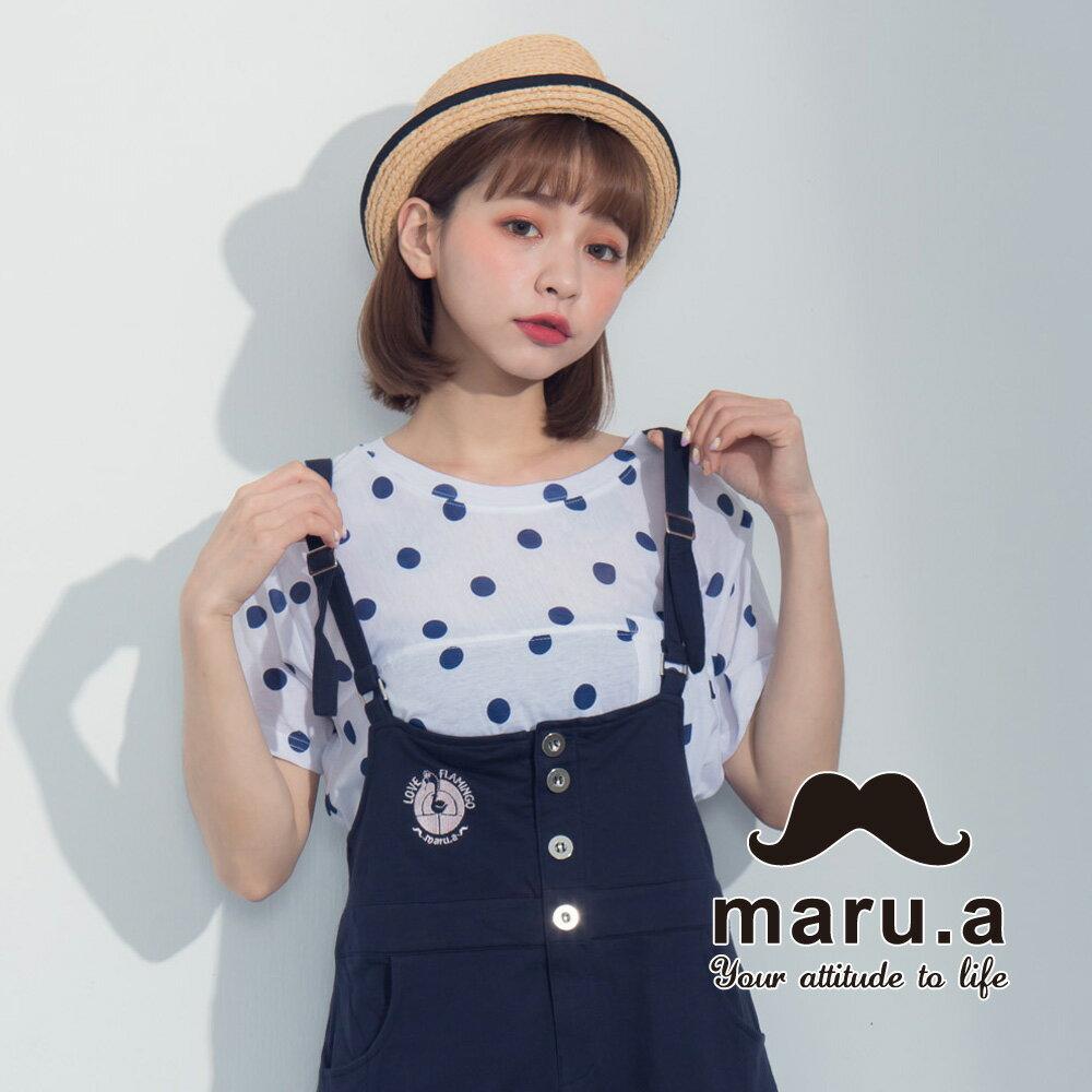 【maru.a】滿版圓點小口袋上衣7321224 5