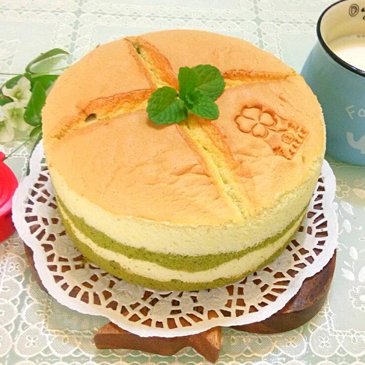 抹茶牛奶戚風蛋糕︱戚風蛋糕︱靜岡抹茶粉︱6吋︱8吋