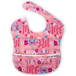 台灣 Baby City 防水圍兜(6-24M) 粉色兔子 BB32170P【紫貝殼】