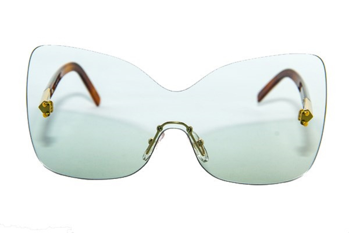 42d717302834 Fendi Unisex Designer Eye Sunglasses Aqua and Havana with Case 5273467 0
