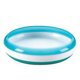 【淘氣寶寶】美國 OXO Tot Training Plate 幼兒餵食防滑餐盤/學習餐盤/訓練碟 藍色【保證原廠公司貨●品質有保證●非水貨】