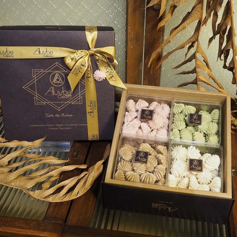 艾樂比 【馬林糖禮盒】 4小盒 馬卡龍 小西點 下午茶點心 甜點 蛋白糖霜 aluvbe