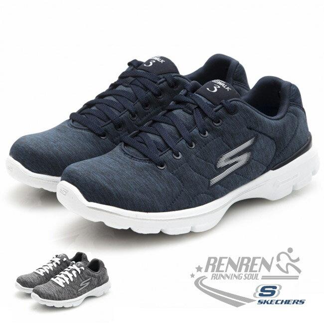 SKECHERS 女運動鞋 GoWalk 3 (深藍) 瑜珈鞋墊款 健走鞋【 胖媛的店 】