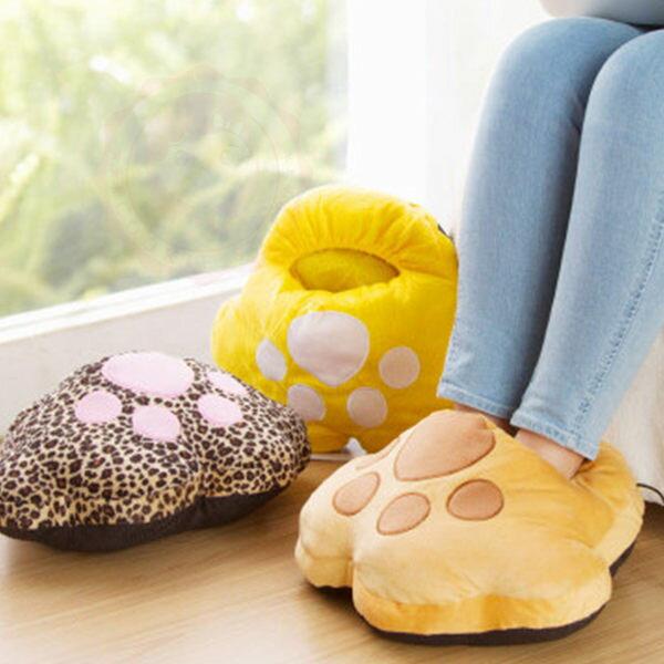 大熊掌大貓掌保暖小物 USB可愛熊掌暖腳鞋 暖腳寶 暖手抱枕 室內拖鞋【庫奇小舖】