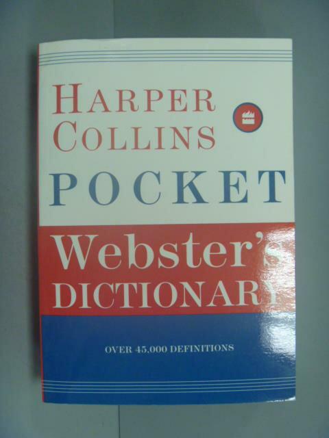 ~書寶 書T9/字典_IKM~Harpercollins Pocket Webster's