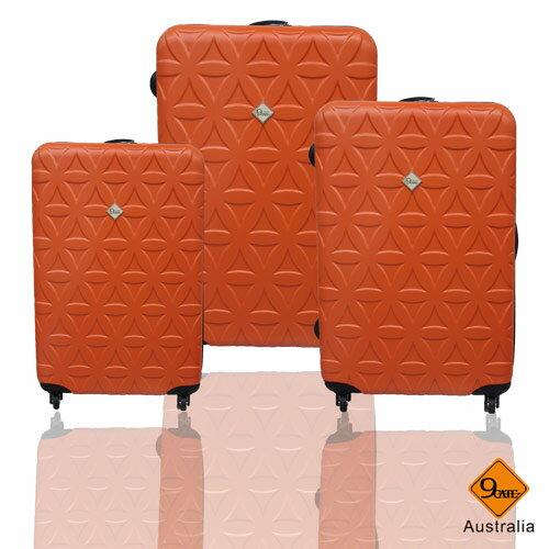 ✈Gate9花花系列ABS霧面輕硬殼三件組旅行箱 / 行李箱 3