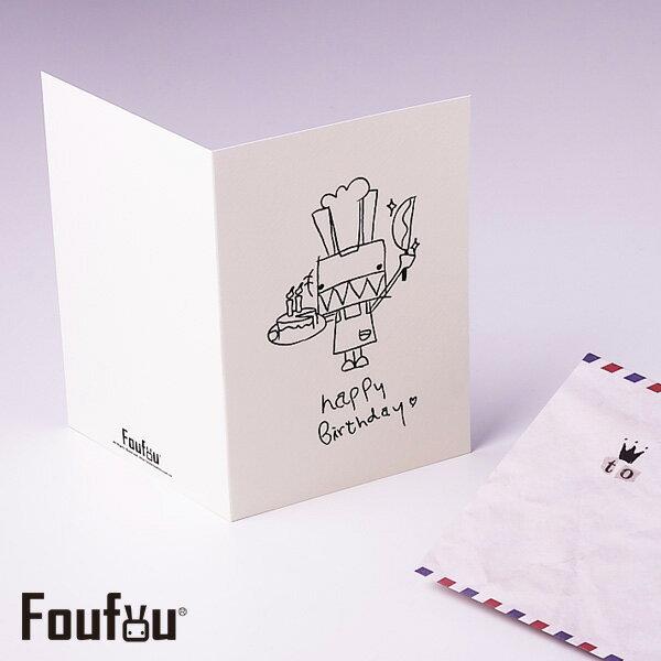 《Foufou》萬用卡片Card-生日切蛋糕Happy Birthday