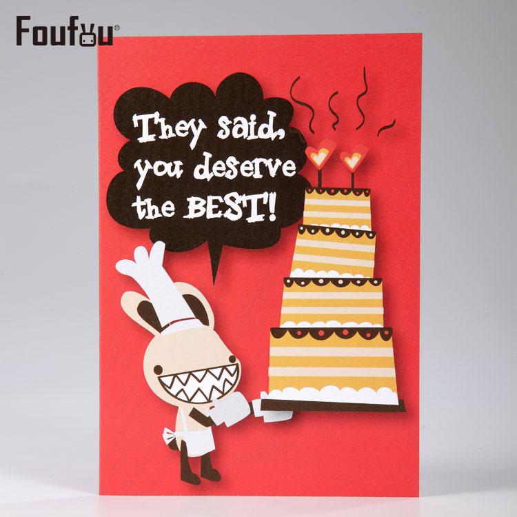 《Foufou》萬用卡片Card- You deserve the best