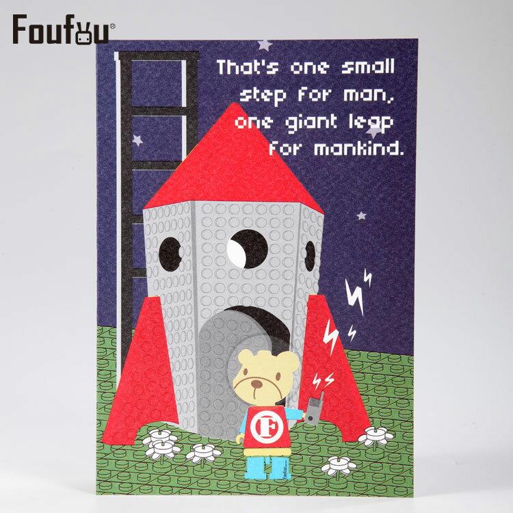 《Foufou》紙公仔卡片Card-火箭出發