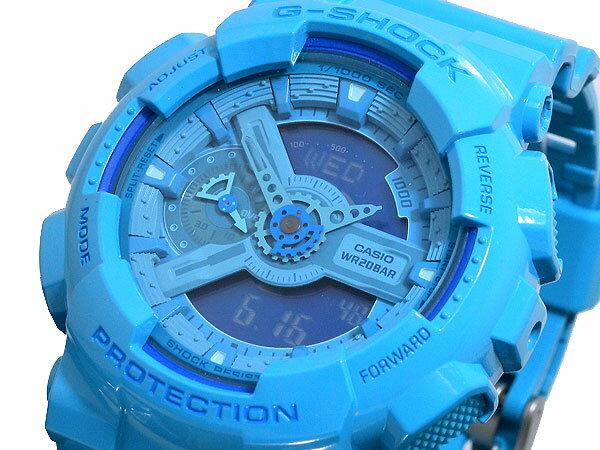 國外代購 CASIO G-SHOCK 湖水藍  GA110b-2A  防水 手錶 腕錶 電子錶 男女錶 1