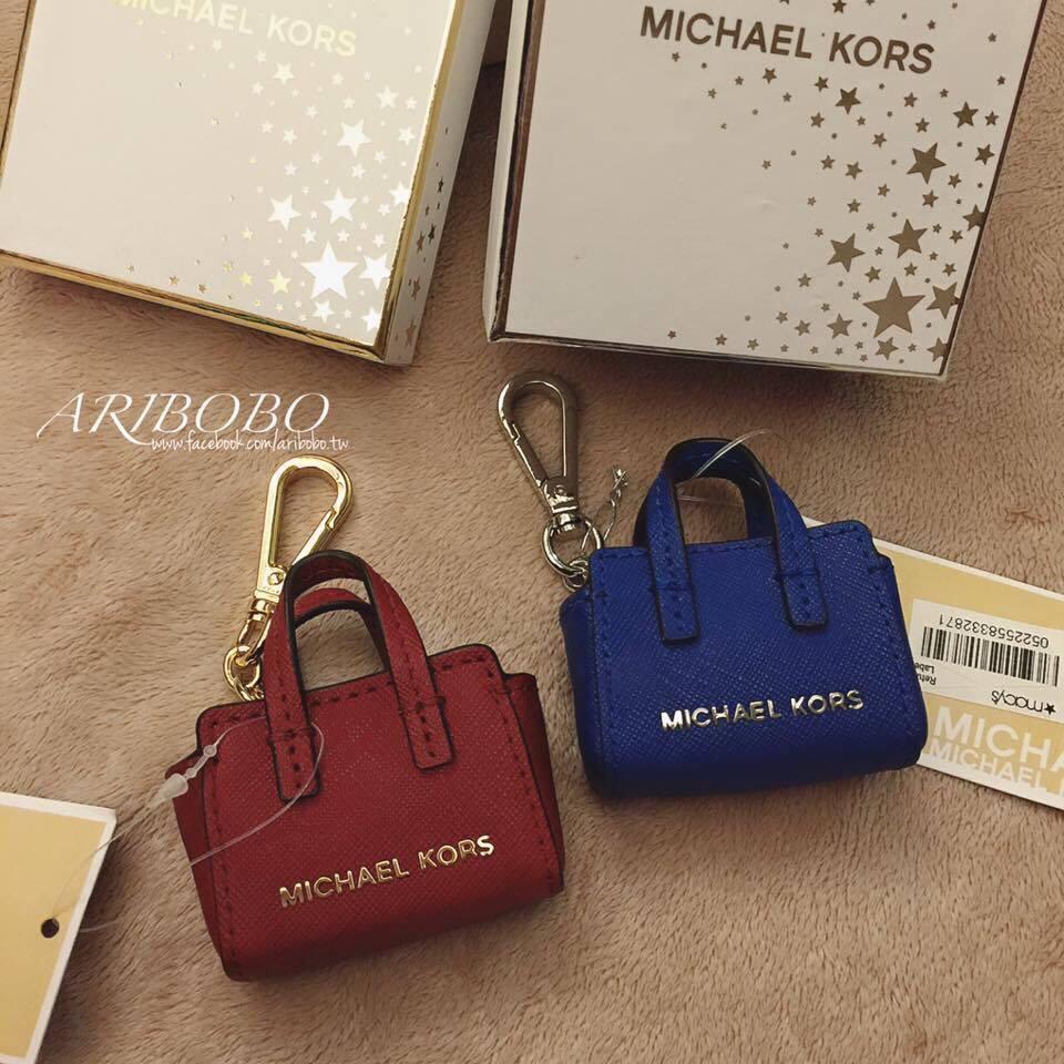 【MICHAEL KORS】正品 MINI MK鑰匙圈 紅\藍【全店免運】 0
