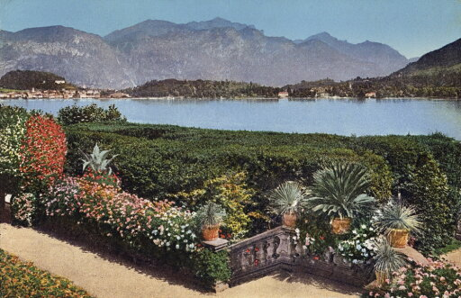 Italy Villa Carlotta Nview Of Lake Como From Villa Carlotta In Northern Italy Postcard Italian 1920S Or 1930S Rolled Canvas Art - (18 x 24) 3d63df264120beb92480f131dfb89e1f