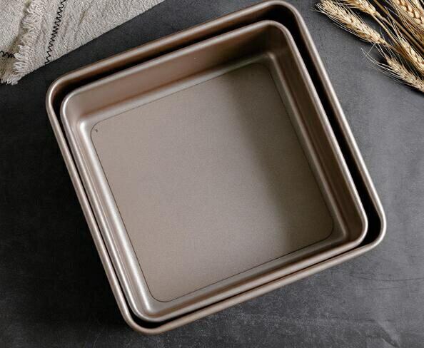 烤盤活底深方盤烤箱用正方形烤盤家用不沾蛋糕面包模具8寸9.5寸  聖誕節狂歡購