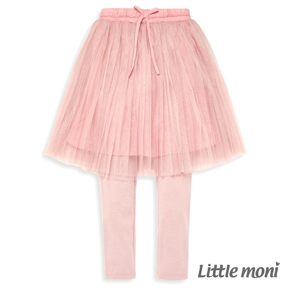 Little moni 假兩件網紗蓬裙褲-粉紅(好窩生活節) 0
