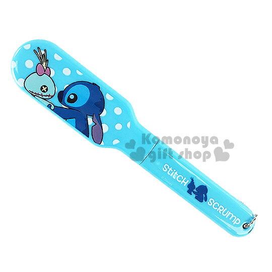 〔小禮堂〕迪士尼 史迪奇 折疊梳《藍.醜丫頭.點點》方便攜帶