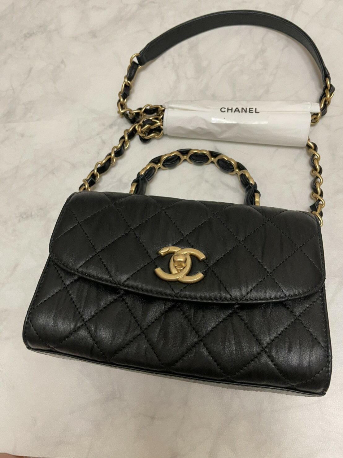 2021爆款新款Chanel handle 抓皺羊皮 復古小香風  2021 05