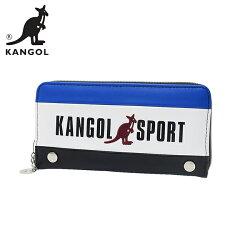 藍色款【日本正版】KANGOL SPORT 皮革 長夾 皮夾 錢包 KANGOL 英國袋鼠 - 080632