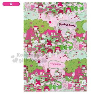 〔小禮堂〕Sanrio大集合 日製L型文件夾《A4.粉.野餐同樂》Sanrio55週年紀念系列第二彈