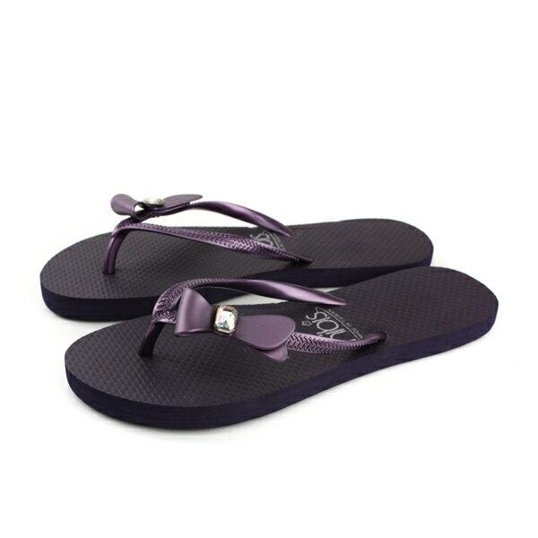 夾腳拖鞋人字拖紫色女鞋81201-03no145