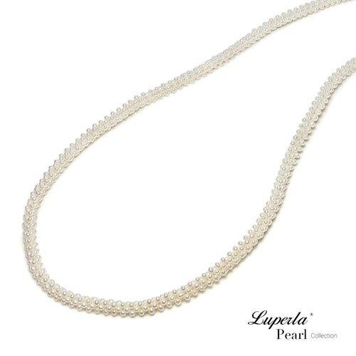 大東山珠寶 法式優雅 天然珍珠項鍊 歐美古典編織珠寶 7