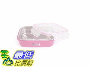 [106美國直購] thinkbaby 粉紅色 便當盒 BPA Free Bento Box 18/8不鏽鋼