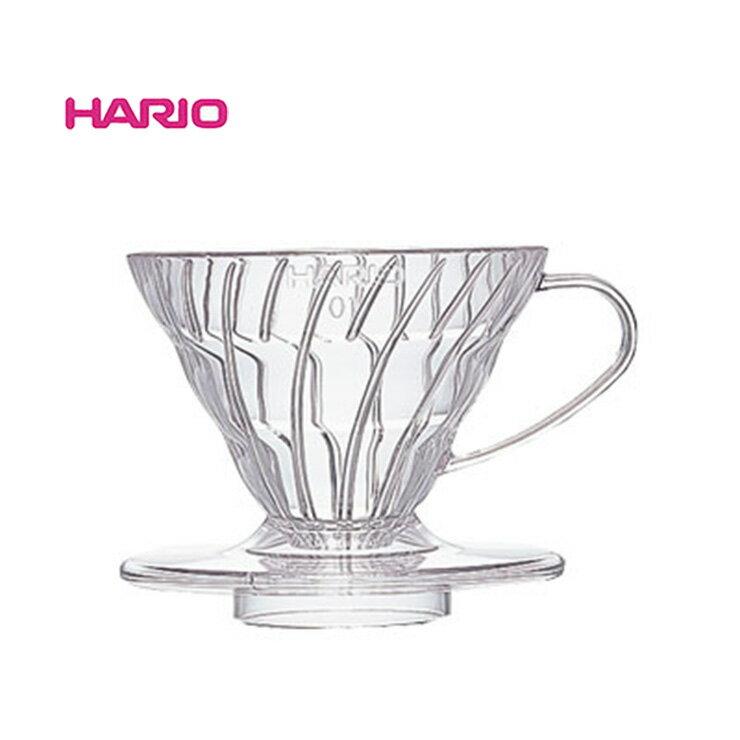 ~✬啡苑雅號✬~日本Hario V60 01樹脂錐型濾杯1-2杯 VD-01T 螺旋濾杯透明 手沖濾杯 咖啡壺 咖啡濾器