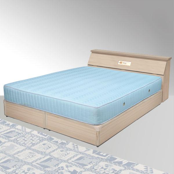 雙人床 床組 床頭箱 床台 床架 房間組 臥室《Yostyle》席歐床組-雙人加大6尺(白橡木紋)