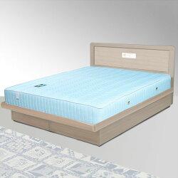 雙人掀床/床組/床墊/獨立筒/雙人床/床台/床架/房間組/臥室【Yostyle】朵拉掀床組+獨立筒床墊-雙人5尺(白橡木紋)