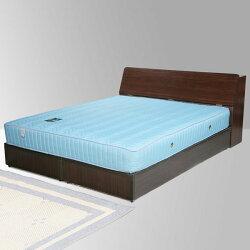 雙人床/床組/床墊/獨立筒/床台/床架/房間組/臥室【Yostyle】諾雅床組+獨立筒床墊-雙人5尺(二色)
