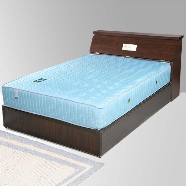 單人床床組床墊獨立筒床頭箱床台床架房間組臥室《Yostyle》席歐床組+獨立筒床墊-單人3.5尺(胡桃木紋)