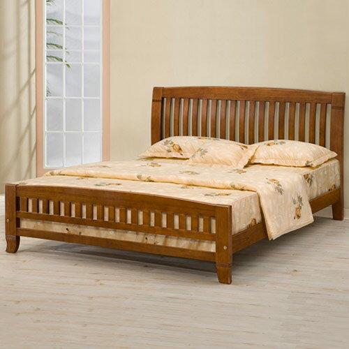 亞倫實木5尺雙人床架❘床架/雙人床/木床架/床組/房間組/臥室【YoStyle】