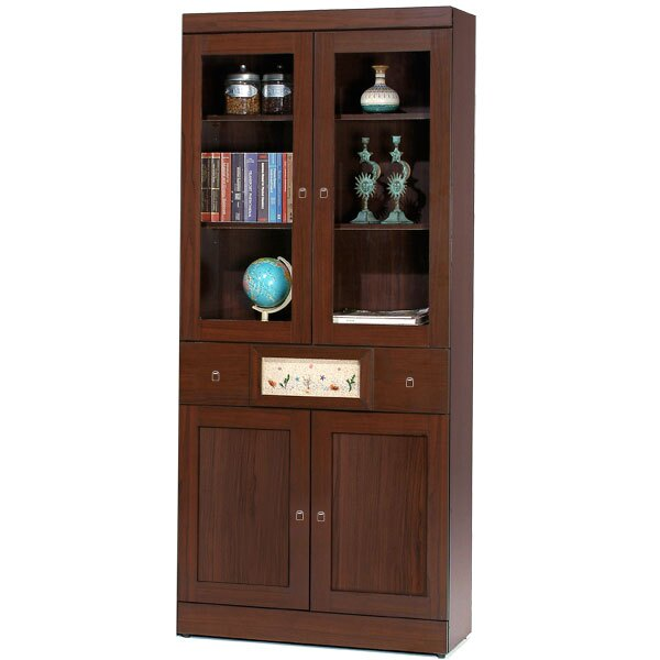 展示櫃 書櫃 大型書櫃 櫥櫃 展示櫃 置物櫃 收納櫃《Yostyle》自然風味中抽書櫃(胡桃木紋)