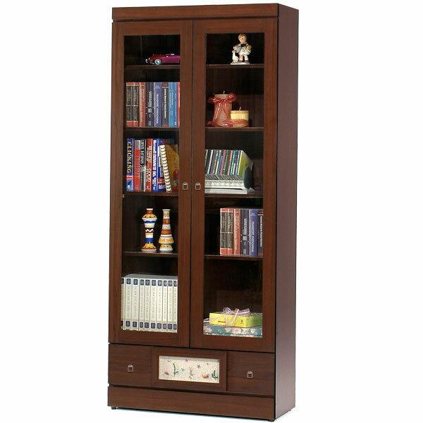 書櫃 有門書櫃 大型書櫃 櫥櫃 展示櫃 置物櫃 收納櫃《Yostyle》自然風味下抽書櫃(胡桃木紋)