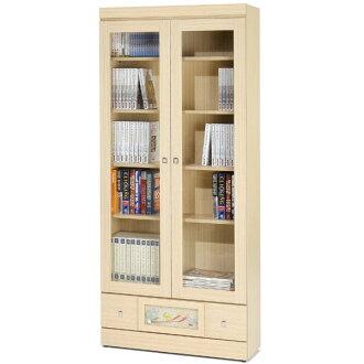 書櫃 有門書櫃 大型書櫃 櫥櫃 展示櫃 置物櫃 收納櫃《Yostyle》自然風味下抽書櫃(白橡木紋)