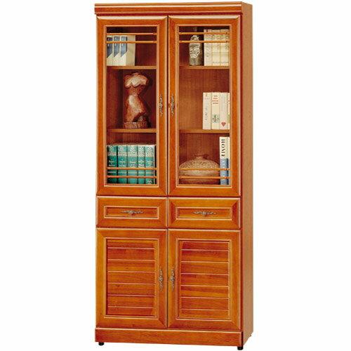 書櫃 樟木 大型書櫃 櫥櫃 展示櫃 置物櫃 收納櫃《Yostyle》樟木2.7尺中抽收納書
