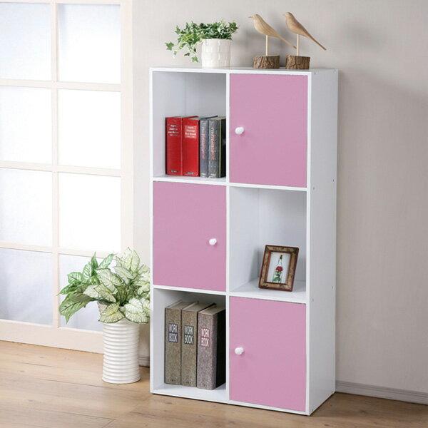 書櫃 置物櫃 空櫃 組合櫃 收納櫃 有門櫃 小書櫃 櫃子 櫥櫃《Yostyle》現代風六格三門置物櫃(三色)